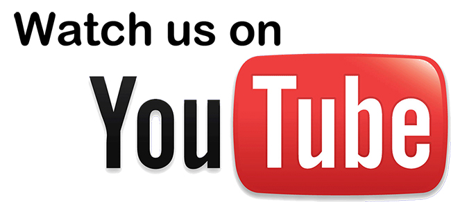 Watch us on YouTube Logo