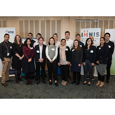 Monash University and Monash BDI PhD students at the launch event of Victoria's MedTech-Pharma program of the Industry Mentoring Network in STEM. Not all mentees were able to attend [Image: Adrienne Bizzarri Photography].