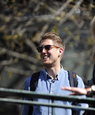 Anders Budde on campus at Monash in Melbourne