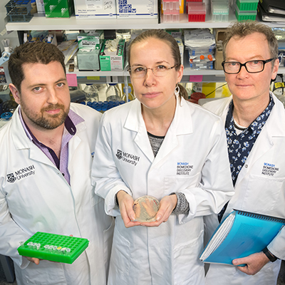 From left to right: Dr Andrew Major, Dr Claire Hirst and Associate Professor Craig Smith