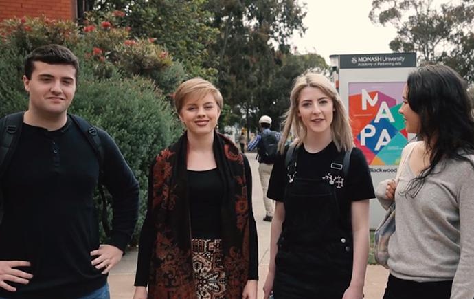 Student induction video screenshot