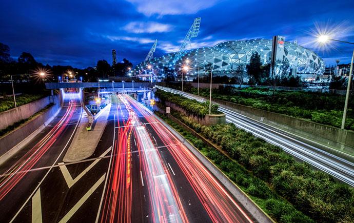 Melbourne train lights