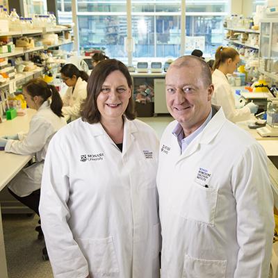 Associate Professor Helen Abud and Associate Professor Paul McMurrick