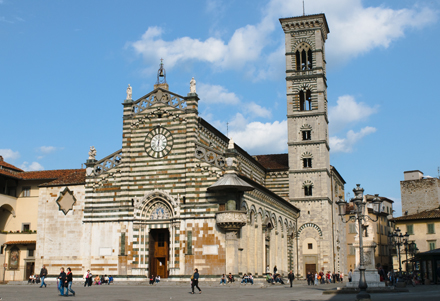 The town square in Prato, Italy