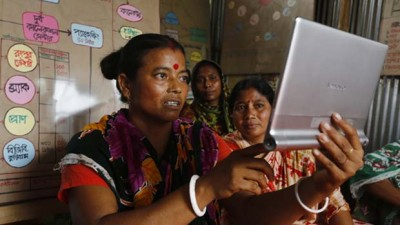 Credit: Abir Abdullah / Oxfam. Mobile information systems can take advantage of a range of communication channels.