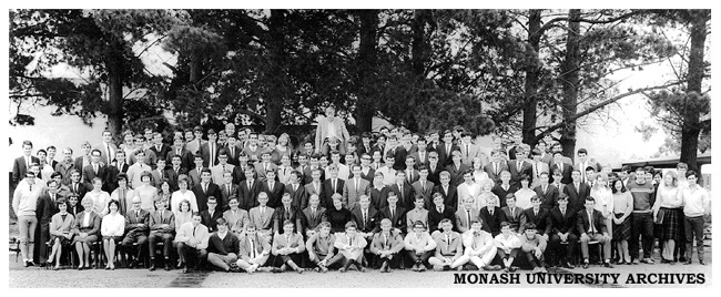 Students and staff of Monash Law School in 1964