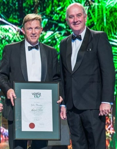 The award recognises Professor Thwaites enormous contribution to the planning industry and the state of Victoria.
