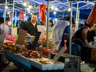 Night market in Malaysia