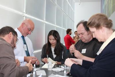 Participants in the DIY lens workshop
