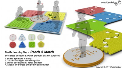 The Reach and Match allows blind children to learn while exploring their environment