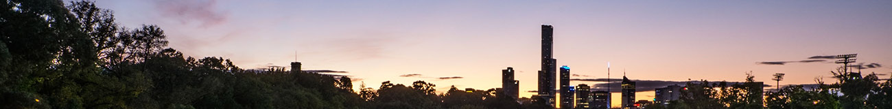 Melbourne skyline at dusk multi