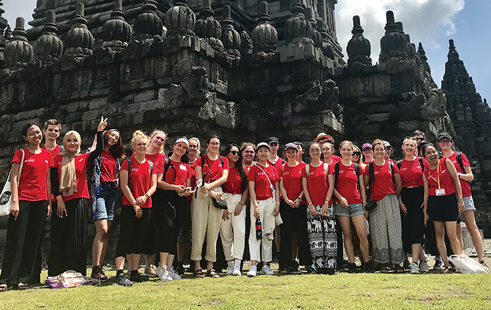 Monash students in Parambanan, Indonesia