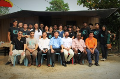 The EWB team at the site.