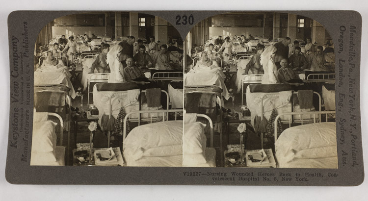 Nursing wounded heroes back to health, Convalescent Hospital No. 5, New York