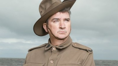 Damian Callinan in character for The Lost WWI Diary.