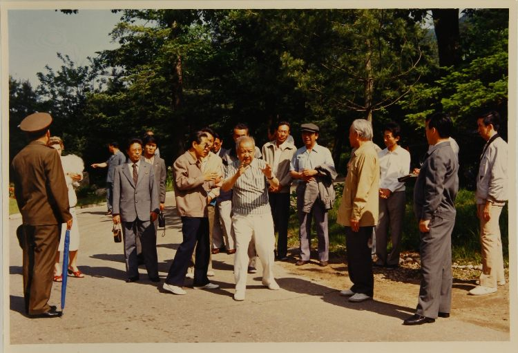 Norodom Sihanouk directing the shooting of the film