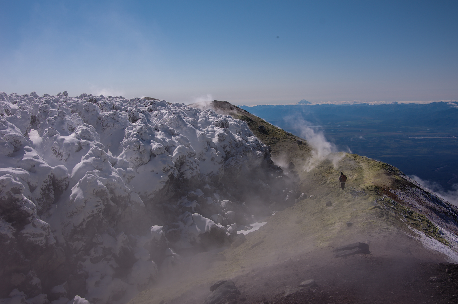 Summit of the Avacha volcano, Kamchatka, Far East Russia.