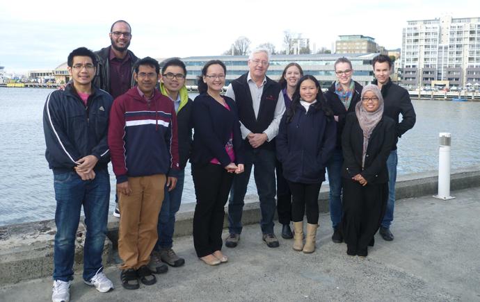 ACROSS group at Hobart wharf