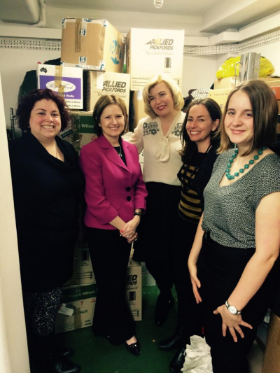 L-R Tania Sabatino, Professor Keryn Chalmers, Fitted for Work CEO Donna de Zwart and her colleagues.