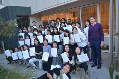 Japanese high school students at Monash