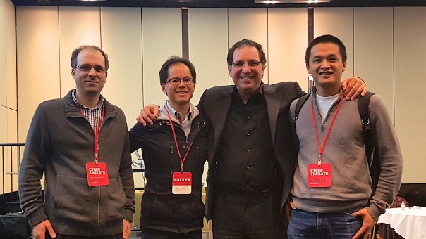 Ron Steinfeld, Linus Chang, Trung Dinh with Kevin Mitnick