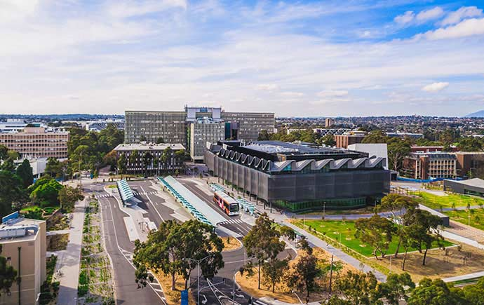 Monash Clayton campus transport hub