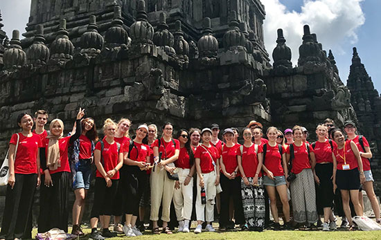 Monash Arts students in Indonesia on the Global Immersion Guarantee