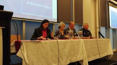 Photo: Senator Fierravanti-Wells, Professor Rita Wilson, Mr Frans Moens, Mr Matthew Ryan