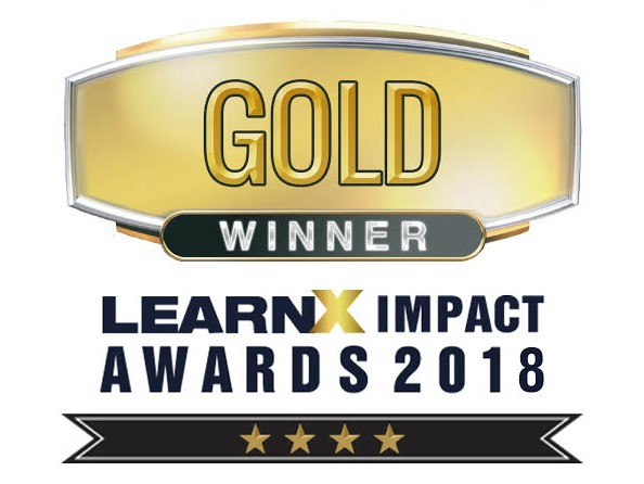 Learnx impact awards 2018 Gold winner
