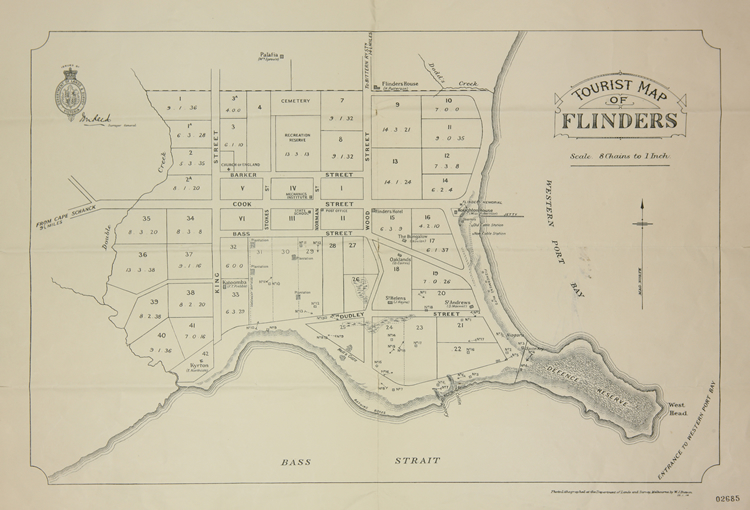 Tourist map of Flinders