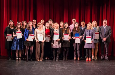 Undergraduate recipients of the Dean\'s Award for Academic Excellence together with Professor John Loughran Dean, Faculty of Education