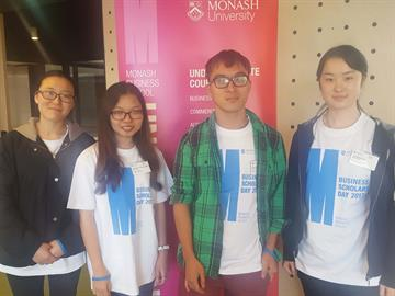 Foundation year students participating in the Monash University Business Scholars Day