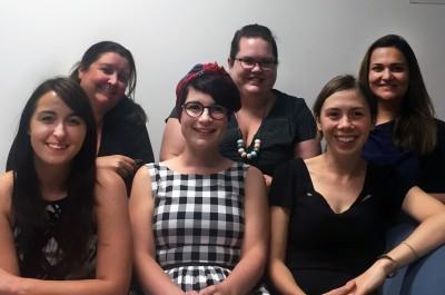 Members of the Access Monash team (L-R): Brooke Wachter, Kate Duyvestyn, Roxanne Baum, Brooke Lyons, Renate Giacometti and Negar Mehr.