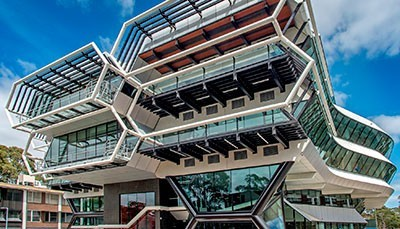 The Green Chemical Futures building in the North West Precinct on Clayton campus received an Educational Architecture - Architecture Award and Colorbond Award for Steel Architecture.
