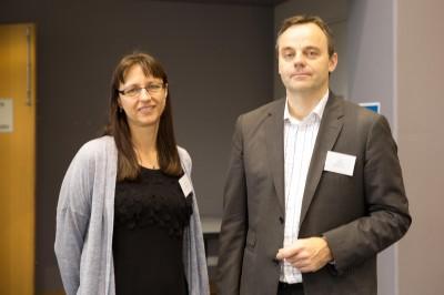 L-R: Professors Ana Deletic and Jakob Hohwy.