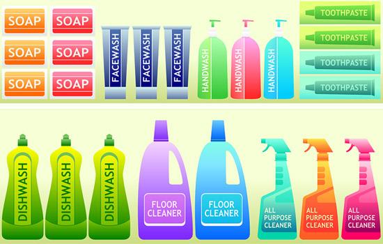 supermarket products on shelf