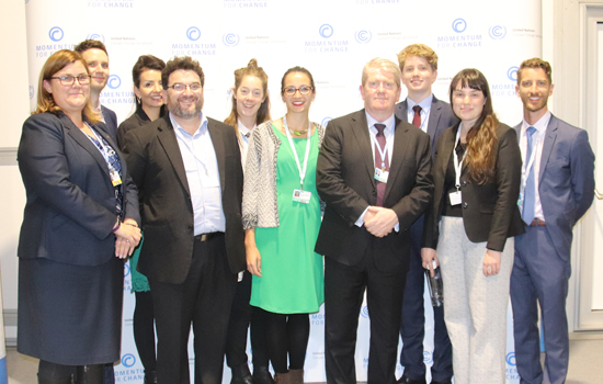 Photo of Monash delegates at COP24 in Katowice, Poland