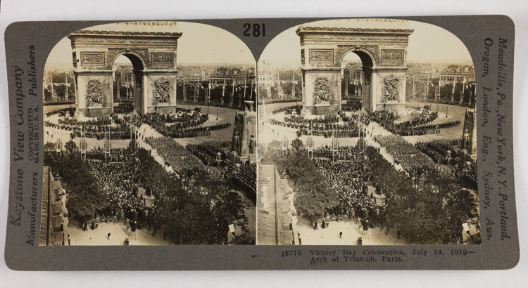 Victory Day celebration, July 14, 1919 - Arch of Triumph, France