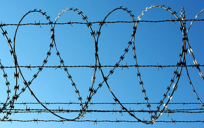 just cases podcast picture of razor wire
