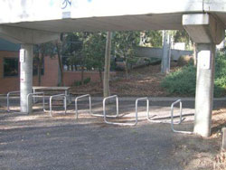 Bicycle Parking Area near Student Union building